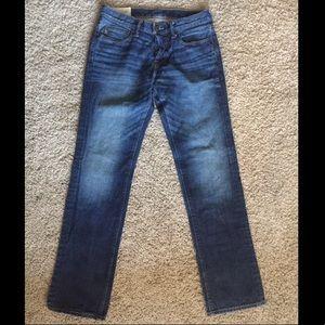Abercrombie & Fitch medium blue straight leg jeans